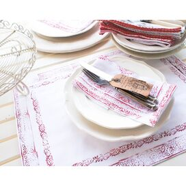 Mayenne Maison Cote D'Azur Placemat in Real Red (Set of 4)