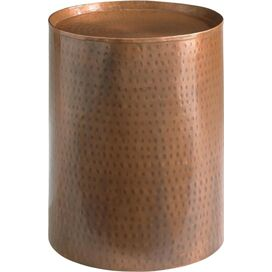 Round Antique Copper Pedestal