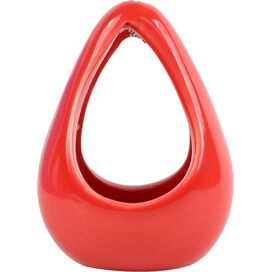 Hanging Cone Air Planter in Red