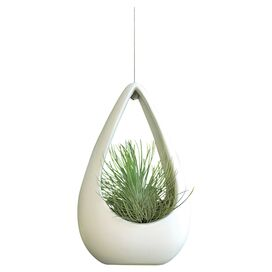 Hanging Cone Air Planter in White