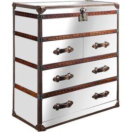 Riley Mirrored Dresser in Brown