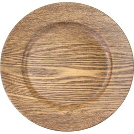 Faux Wood Charger Plate in Walnut (Set of 4)