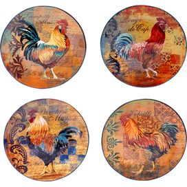 Rustic Rooster Dinner Plate (Set of 4)