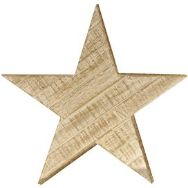 Rustic Star Decor in Antique White