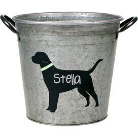 Personalized Black Lab Storage Bucket