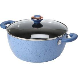 Nonstick 5.5-Quart Soup Pot in Blueberry