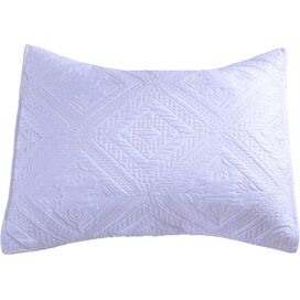 Fern Pillow Sham in White