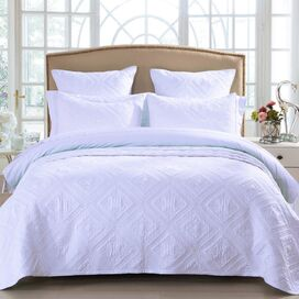 Fern Quilt in White