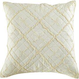 Zara Pillow Sham in Ivory