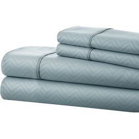Chevron Microfiber Sheet Set in Light Blue