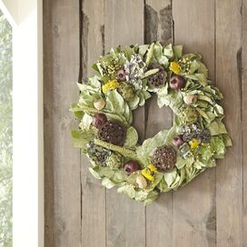 Preserved Artichoke & Hydrangea Wreath