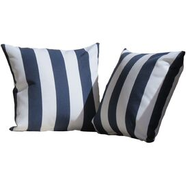 Leonard Indoor/Outdoor Throw Pillow in Navy (Set of 2)