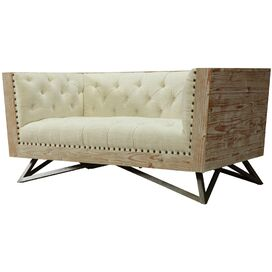 "Judith 63"" Tufted Loveseat"