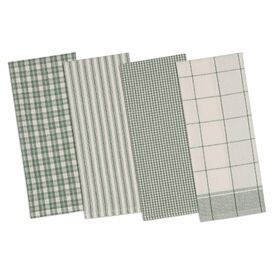 Callista Kitchen Towel in Green (Set of 4)