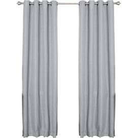 Gray Blackout Grommet Curtain Panel