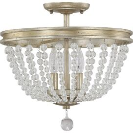 Addison Semi-Flush Mount in Iced Gold
