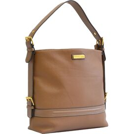 Henley Leather Bag in Taupe