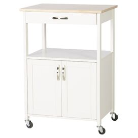 Abigail Kitchen Cart in Ivory