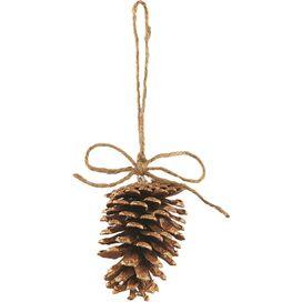 Gilt Pine Cone Ornament