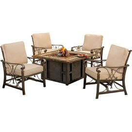 5-Piece Seville Fire Pit Seating Group
