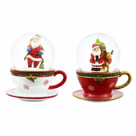 Santa Snow Globe (Set of 2)