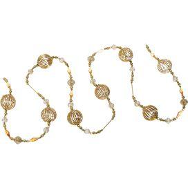 Gold Glass Ornament Garland