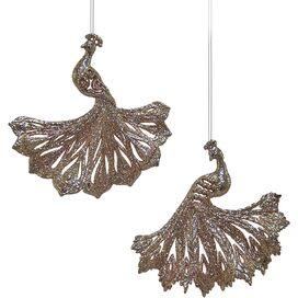 2-Piece Peacock Ornament Set