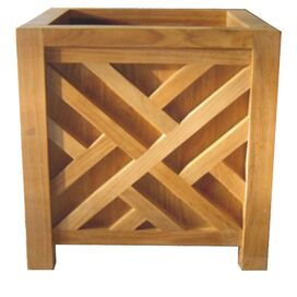 Sunset Teak Planter