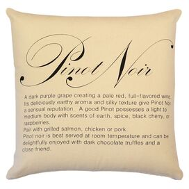 Pinot Noir Pillow in Straw