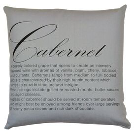 Cabernet Pillow in Slate