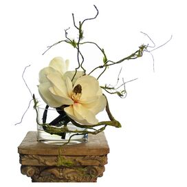 Silk Magnolia & Vine Arrangement