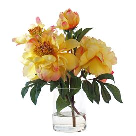 Silk Yellow Peony Arrangement