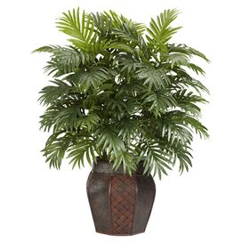 Faux Areca Palm in Brown Planter