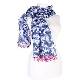 Athens Scarf in Navy