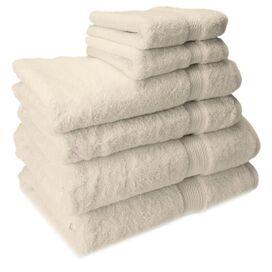 6-Piece Seneca Egyptian Cotton Towel Set in Cream