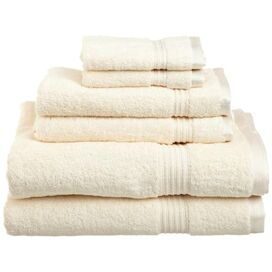 6-Piece Vivienne Egyptian Cotton Towel Set in Ivory
