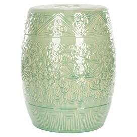 Camille Garden Stool in Lime Green