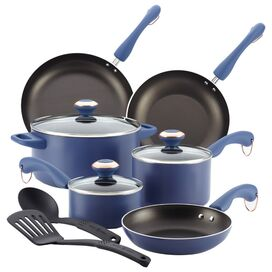 11-Piece Allgood Cookware Set in Blueberry