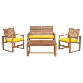 4-Piece Ozark Acacia Seating Group Set in Yellow