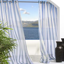 Evelyn Indoor/Outdoor Curtain Panel in Blue