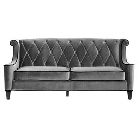 "Bradley 83"" Velvet Sofa in Grey"