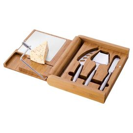 5-Piece Soiree Bamboo Cheeseboard Set
