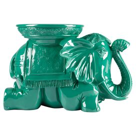 Bali Elephant Statuette in Green