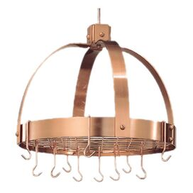 Old Dutch Dome Hanging Pot Rack in Copper
