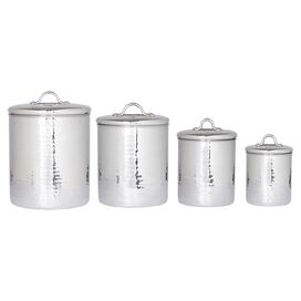 Old Dutch 4-Piece Copper Canister Set