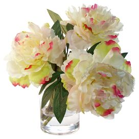 Faux Pink & White Peony
