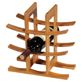 Bamboo Tabletop Wine Rack in Natural