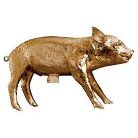 Gilded Pig Bank