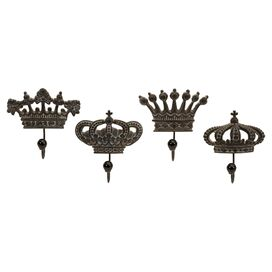 4-Piece Crowne Wall Hook Set