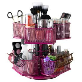 Rotating Cosmetic Carousel in Rose